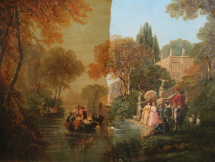 Party by the Canal During Restoration